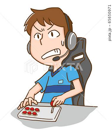 eスポーツ ゲーム テレビゲーム ビデオゲーム 男性 65650971