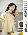 여자,요리,음식 65655442