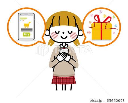 学生 女の子 オンラインショッピング 65660093