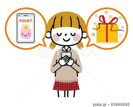 学生 女の子 スマホ ポイント 65660095