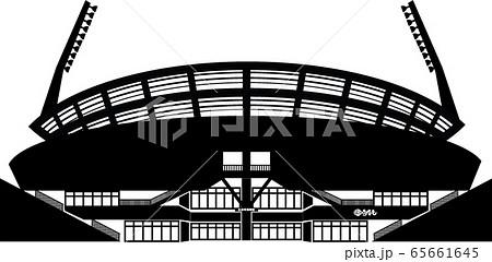 広島の野球場 マツダスタジアム シルエット 65661645