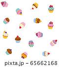 カップケーキパターン(透明背景) 65662168