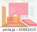 ピンクの子供部屋 65662413