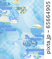 和風背景素材-清涼感-和紙-夏-水紋-波紋 65664905