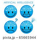 人工知能ニコニコマーク アイコンセット 65665944