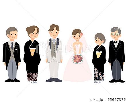 結婚式 家族  65667376