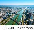 Paris aerial panoramic view, France 65667959