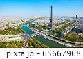 Eiffel Tower aerial view, Paris 65667968