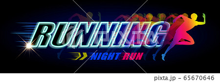 Night run event banner 65670646