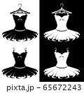 ballet tutu costume on a hanger black and white vector outline set 65672243