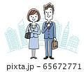 イラスト素材:新入社員、リクルート、若い男女 65672771