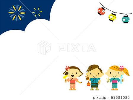 夏祭りフレーム 65681086