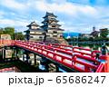 長野県松本市 紅葉時期の松本城 65686247