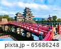 長野県松本市 紅葉時期の松本城 65686248