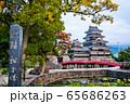 長野県松本市 紅葉時期の松本城 65686263