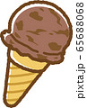 アイスクリーム(チョコ) 65688068