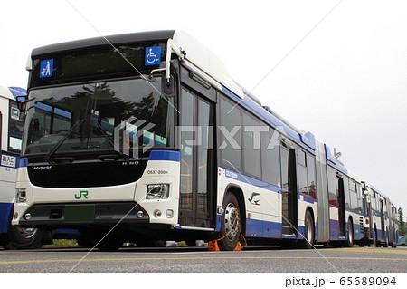 日野ブルーリボン・ハイブリット連接バス(福島県白河市) 65689094