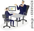 面接 営業 ビジネスシーン イラスト ベクター 65695428