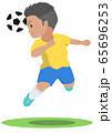 サッカー ヘディング 65696253