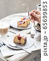 NYチーズケーキと苺のコンフィチュール 65699853