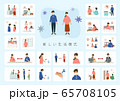 【A4】新しい生活様式を伝えるイラスト 65708105
