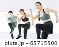 フィットネス エアロビ ダンス スポーツジム 女性 エクササイズ 65715500