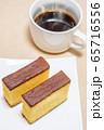 カステラとホットコーヒー 65716556