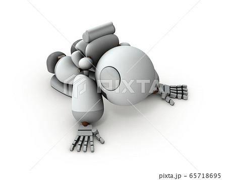 床に臥せる失意のロボット 65718695