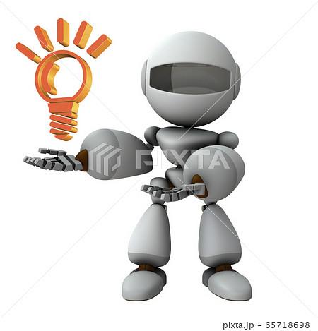 アイディアを提示するロボット 65718698