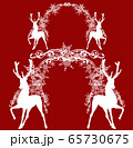 deer and arch frame of snowflakes for winter holidays silhouette vector design 65730675