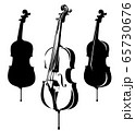 classical cello musical instrument black and white vector outline and silhouette 65730676
