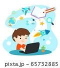 Kids learning online education vector. 65732885