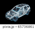 Technical 3d illustration of SUV car with x-ray 65736861