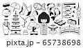 Japanese traditional garden, pagoda, geisha, bonsai, koi carps, tayaki fish. 65738698