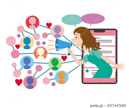 インフルエンサー 広告 マーケティング 影響力 ネット集客 65744560