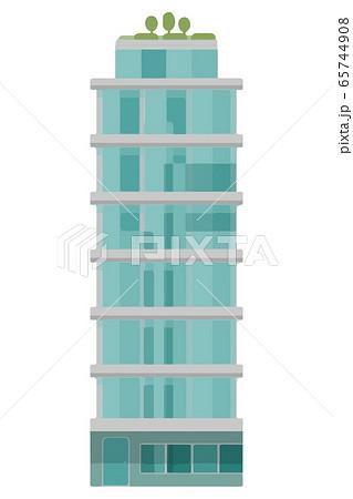 ガラス張りのオフィスビルのベクターイラスト 65744908