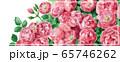 ブログ用ヘッダ画像ピンクのバラ 65746262