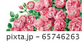 ブログ用ヘッダ画像ピンクのバラ 65746263
