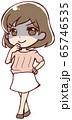 悪だくみをするアニメ調のお姉さん 65746535