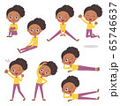 cute type african mom_exercise 65746637