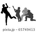 高校野球シルエット_1 65749413