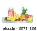 果物とジャム瓶 65754866