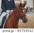 professional jockey and horse oil painting on canvas 65759542