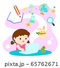 Kids learning online education vector. 65762671