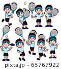 テニス 男の子 サンバイザー セット 65767922