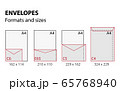 vector illustration of envelopes formats and sizes set 65768940