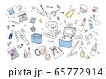 メイクアップツールのイラスト 65772914