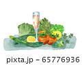 野菜とジュース 65776936