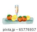 トマトとレモンとジュース 65776937