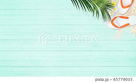 背景-砂浜-ブルー 65779035